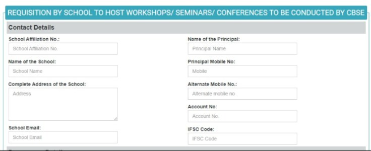 CBSE Requisition Form to host workshops