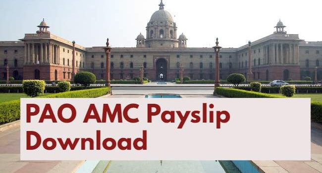 PAO AMC Payslip Download